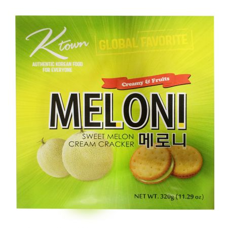 Meloni Sweet Melon Cream Cracker Big Size 11.29oz(320g)