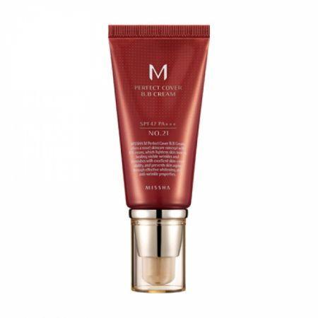 M Perfect Cover BB Cream SPF 42 PA+++ -(#21 Light Beige)