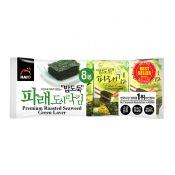 Premium Roasted Seaweed Green Laver 0.15oz(4.25g) 8 Packs