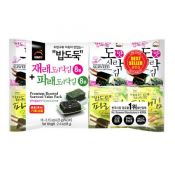 Premium Roasted Seaweed Value Pack (Original+Green Laver) 0.15oz(4.25g) 16 Packs