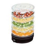 5-Tier Food Dehydrator Round Black