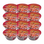 Hot & Spicy Bowl Noodle Soup with Soy Peptide 3.03oz(86g) 12 Cups
