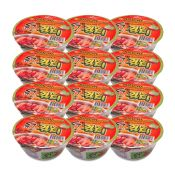 Kimchi Flavor Bowl Noodle Soup with Soy Peptide 3.03oz(86g) 12 Cups