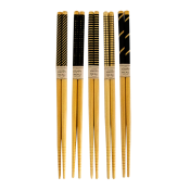 Bamboo Chopsticks (Black Line) 5 Set