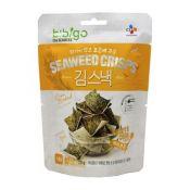 Bibigo Oven Baked Brown Rice Seaweed Crisps Honey & Corn Flavor 0.70oz(20g)
