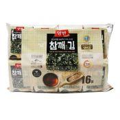 Yangban Roasted Laver Sprinkled with Sesame Seeds 0.17oz(5g) 16 Packs