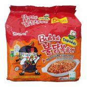 Topokki Hot Chicken Flavor Ramen 4.94oz(140g) 5 Packs