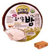 Organic Steamed Rice Bowl Box - 12ea