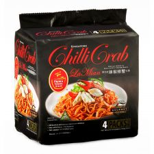 Singapore Chili Crab Flavored La Mian Noodle 5.6oz(160g) 4 Packs