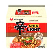Air Dried Shin Ramyun Light 3.4oz(97g) 4 Packs