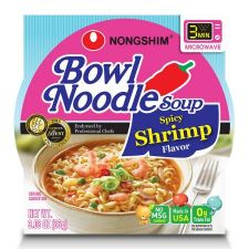 Bowl Noodle Soup Spicy Shrimp Flavor 3.03oz(86g) 12 Cups