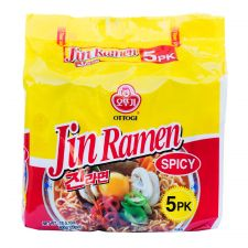 Jin Ramen Hot Flavor 4.23oz(120g) 5 Packs