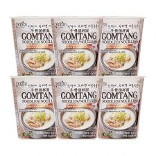 Gomtang Noodle Cup 2.29oz(65g) 6 Cups