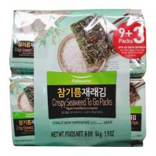 Crispy Seaweed To Go Packs 0.16oz(4.5g) 12 Packs