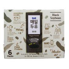 Maeil Soy Milk Black Soybean 6.4 fl.oz(190ml) 6 Packs