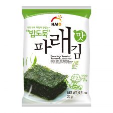Premium Roasted Seaweed (Green Laver) 0.71oz(20g) 4 Packs