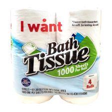 Bath Tissue 4 Rolls