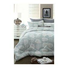Monstera Comforter Mint Q 78.74 X 90.55 in
