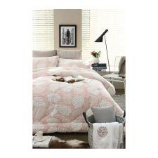 Monstera Comforter Pink Q 78.74 X 90.55 in
