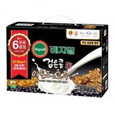 H MART Vegemil Black Bean Almond&Walnut Soymilk 6.43oz(190ml) 24 Pack