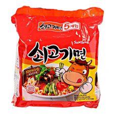 Beef Ramen Hot Flavor 4.23oz(120g) 5 Packs