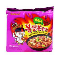 Mala Hot Chicken Flavor Ramen 4.76oz(135g) 5 Packs