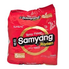 Samyang Ramen Spicy Flavor 4.23oz(120g) 5 Packs