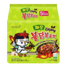 Jjajang Hot Chicken Flavor Ramen 4.94oz(140g) 5 Packs