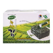 Roasted Seaweed Gift Set (Green Tea Flavor) 7.04oz(20g X 10 Packs)