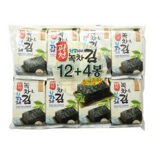 Green Tea Seaweed (Green Laver) Snack Packs 0.17oz(5g) 16 Packs