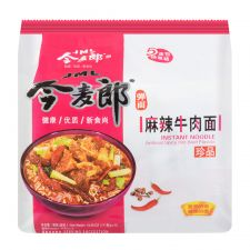 Instant Noodle Spicy Hot Beef Flavour 3.91oz(111g) 5 Packs