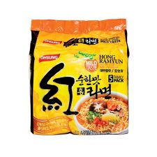 Hong Ramyun Mild Flavor 4.2oz (120g) 5 Packs