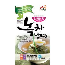 Korean Style Premium Fresh Cold Noodles with Green Tea 2.2lb(1kg)