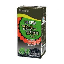 Vegemil Black Soybean Black Sesame Soymilk 6.42oz(190ml) 24 Packs