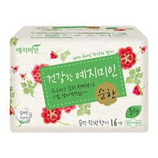Cotton Sanitary Pads Mild Herbal Scent [M] 16 Pack