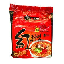 Hong Ramyun Spicy Flavor 4.2oz(120g) 5 Packs