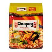 Nongshim Champong Noodle Soup 4.58oz(130g) 4 Packs, 농심 맛짬뽕 4.58oz(130g) 4팩