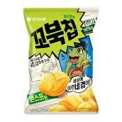 Orion Turtle Chips Cornsoup Flavor Big 5.6oz(160g), 오리온 꼬북칩 콘스프맛 빅사이즈 5.6oz(160g), 好麗友 烏龜玉米脆片 5.6oz(160g)