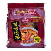 Ottogi Spice Seafood Noodle  4.23oz(120g) 5 Packs, 오뚜기 북경짬뽕  4.23oz(120g) 5팩, 不倒翁 香辣海鮮麵 4.23oz(120g) 5包