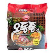 Ottogi Odongtong Myon (Seafood) Spicy Flavor 4.23oz(120g) 5 Packs, 오뚜기 오동통면 얼큰한맛 4.23oz(120g) 5개입