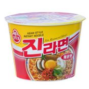 Ottogi Jin Ramen Cup Hot Flavor 3.88oz(110g), 오뚜기 진라면 매운맛 용기면 3.88oz(110g)