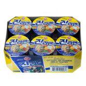 Ottogi Jin Ramen Cup Mild Flavor 2.29oz(65g) 6 Cups, 오뚜기 진라면컵 순한맛 2.29oz(65g) 6컵