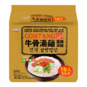 Paldo Gomtang Ramen  3.59oz(102g) 5 Packs, 팔도 진국 설렁탕면 3.59oz(102g) 5팩, 八道 牛骨湯麵  3.59oz(102g) 5 Packs
