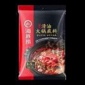 Haidilao Hot Pot Soup Base Spicy Flavor 7.76oz(220g), Haidilao 핫 팟 육수 매운맛 7.76oz(220g), 海底撈 清油火鍋底料 (麻辣味) 7.76oz(220g)