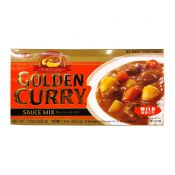 S&B Golden Curry Sauce Mix Mild 7.8oz(220g), 에스엔비 골든카레 소스믹스 순한맛 7.8oz(220g), 艾思必 金牌咖喱塊 小辣 7.8oz(220g)