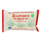 8 Elephants Thai Jasmine Rice 100% 5lb(2.27kg), 8 Elephants 태국 자스민 쌀 100% 5lb(2.27kg)