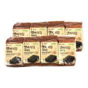 CJ Bibigo Crispy Roasted Seaweed Snack 0.18oz(5g) 8 Packs, CJ 비비고 햇바삭김 재래 도시락김 0.18oz(5g) 8팩
