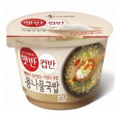 CJ Cooked White Rice with Bean Sprout Soup 9.52oz(270g), 씨제이 햇반 컵반 콩나물국밥 9.52oz(270g)