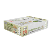 Raw Nature Cooked Brown Rice 7.4oz(210g) 12 Packs, 자연담은 자연미 한국산 현미밥 7.4oz(210g) 12개입