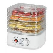 KuHAUS 5-Tier Mini Food Dehydrator White 10.23x9.84x9.05in, KuHAUS 5단 미니 음식건조기 화이트 26x25x23cm